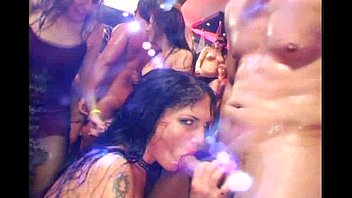 Night club extreme orgy